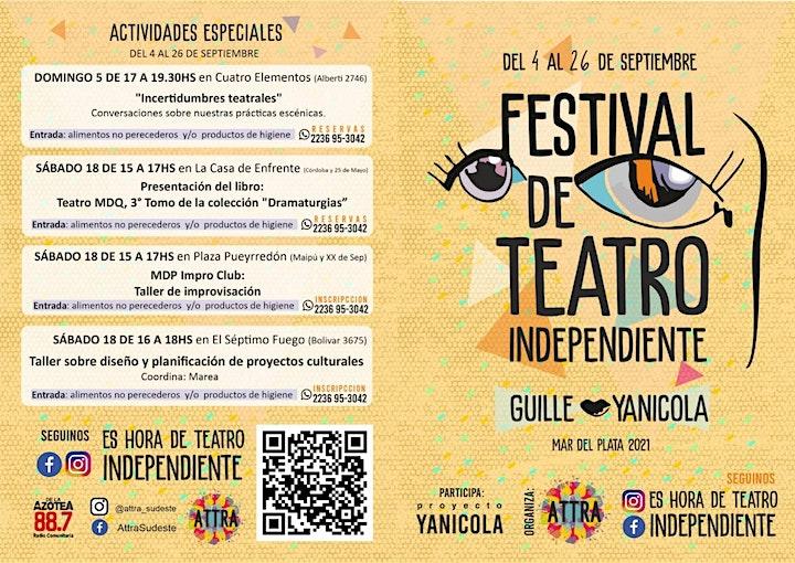 Imagen de FESTIVAL DE TEATRO INDEPENDIENTE GUILLE YANICOLA