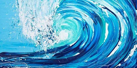 Paint and Sip at Home  'On the Crest of a Wave' tickets