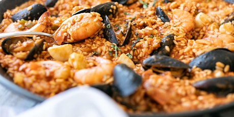 Seafood Paella From Scratch - Online Cooking Class by Cozymeal™ tickets