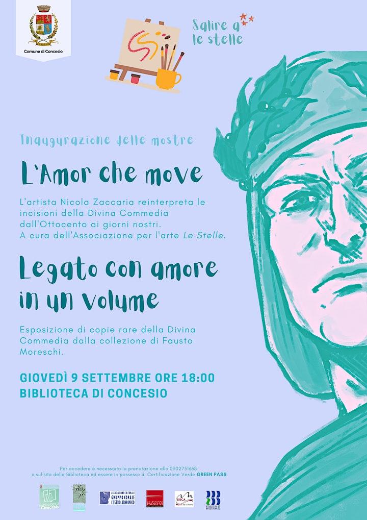 """Immagine Inaugurazione """"L'Amor che move"""" e """"Legato con amore in un volume"""""""