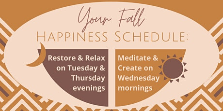 Fall Online Yoga & Meditation Classes with Hannah tickets