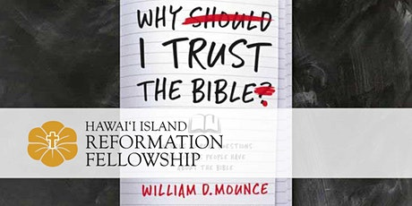 Why I Trust the Bible tickets