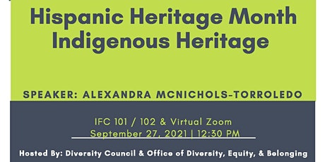 Hispanic Heritage & Indigenous Heritage Event tickets