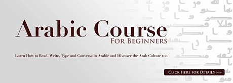 Standard Arabic Course for Beginners tickets