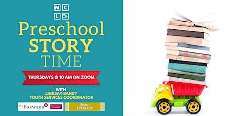 Virtual Preschool Story Time - September, October, and November tickets