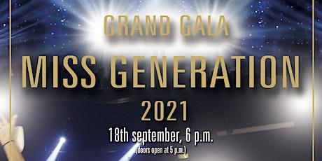 Gala of Miss Generation 2021 tickets