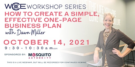 How to Create a Simple, Effective One-Page Business Plan Workshop tickets