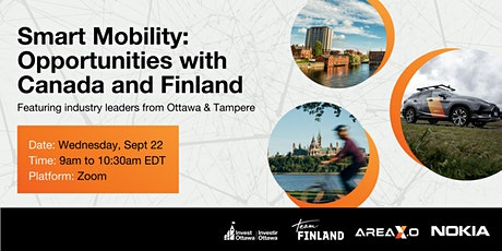 Smart Mobility: Opportunities with Ottawa and Finland tickets