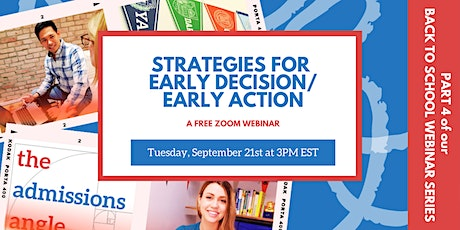 Strategies for Early Decision/Early Action tickets
