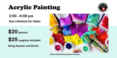 Acrylic Painting with Karen Koseck tickets