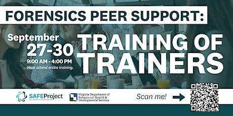 Forensics Peer Support: Training of Trainers tickets