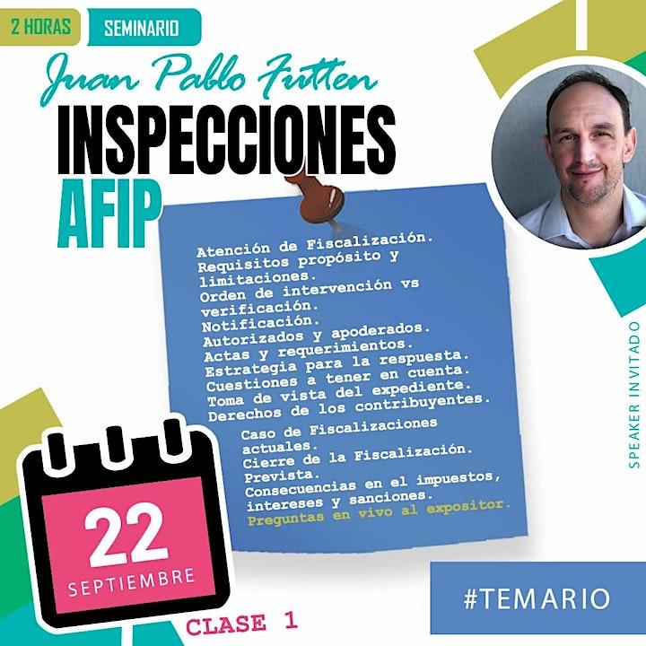Imagen de SEMINARIO COMPLETO:  Inspecciones de AFIP.