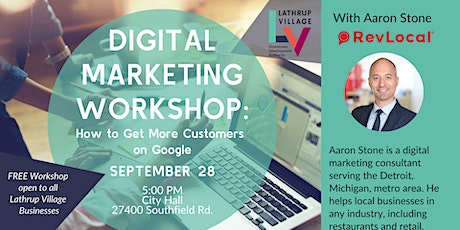 Digital Marketing Workshop: How to Get More Customers on Google tickets