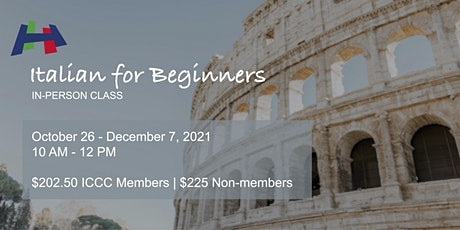 Italian for Beginners - A1S1 (In-person Class) tickets