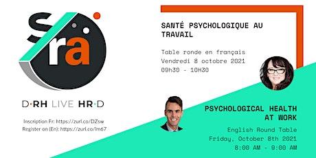 D-RH Live HR-D : Psychological health at work tickets