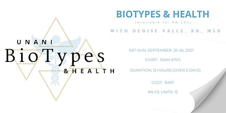 (September 2021) Intro To BioTypes and Health tickets