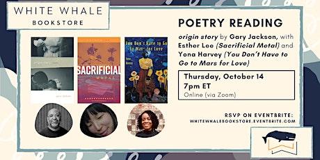 "Poetry Reading: ""origin story,"" Gary Jackson (w/ Esther Lee & Yona Harvey) tickets"