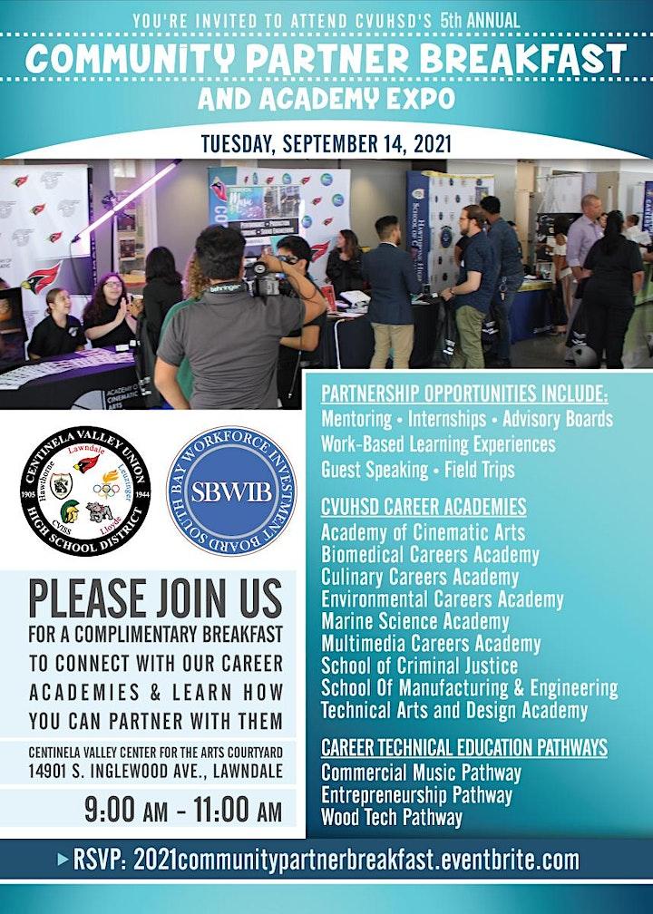 2021 CVUHSD Community Partner Breakfast image