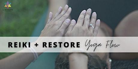 LIVESTREAM   Reiki & Restore Yoga Flow tickets