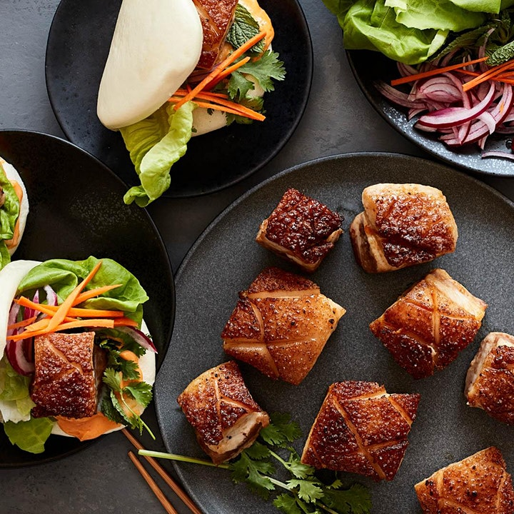 Savory Pork Belly Buns Cooking Class image