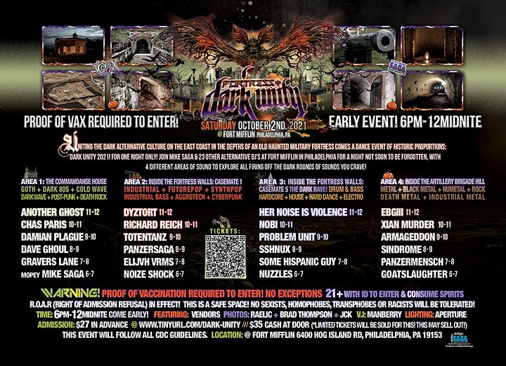 FORTRESS: DARK UNITY Sat Oct 2nd. *Proof of Vax Required to Enter! image