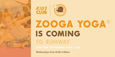 RUNWAY Kids Club: Zooga Yoga! tickets