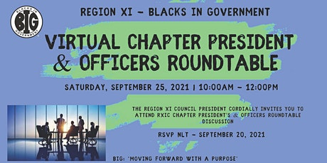 2021 Fall Region XI – Chapter President's & Officers Roundtable tickets