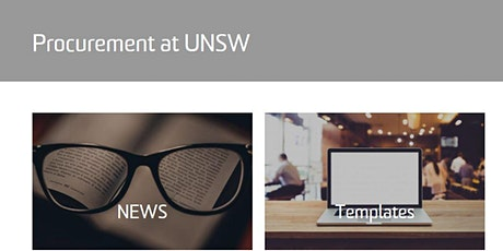 Procurement at UNSW (Procure to Pay) tickets
