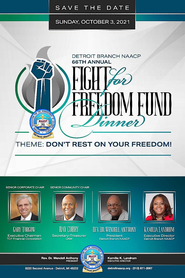Detroit Branch NAACP 66th Annual Fight for Freedom Fund Dinner image