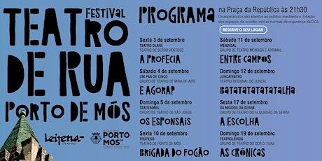 "19 SET- ""AS CRÓNICAS"" Grupo de teatro TEATROLEIROS bilhetes"