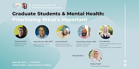 Graduate Students & Mental Health: Prioritizing What's Important tickets