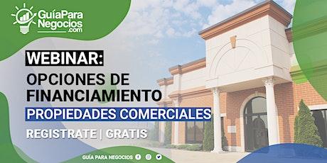 Opciones de Financiamiento para Propiedades Comerciales en Puerto Rico tickets