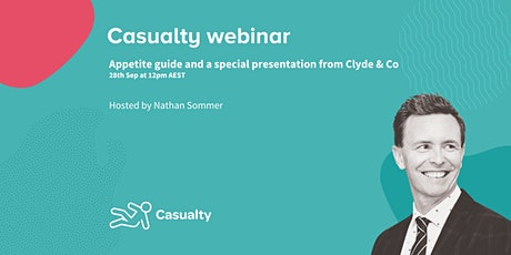 Casualty at AGILE: appetite guide and special presentation from Clyde & Co tickets