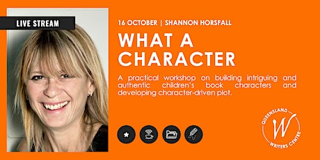LIVE STREAM: What a Character with Shannon Horsfall tickets