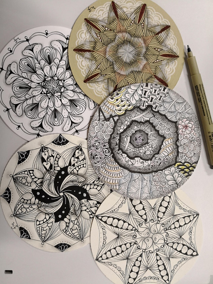 Zentangle Art Course starts  Oct 12 (8 sessions) image