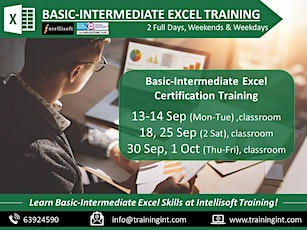 Basic-Intermediate Excel Training by Intellisoft in Singapore tickets