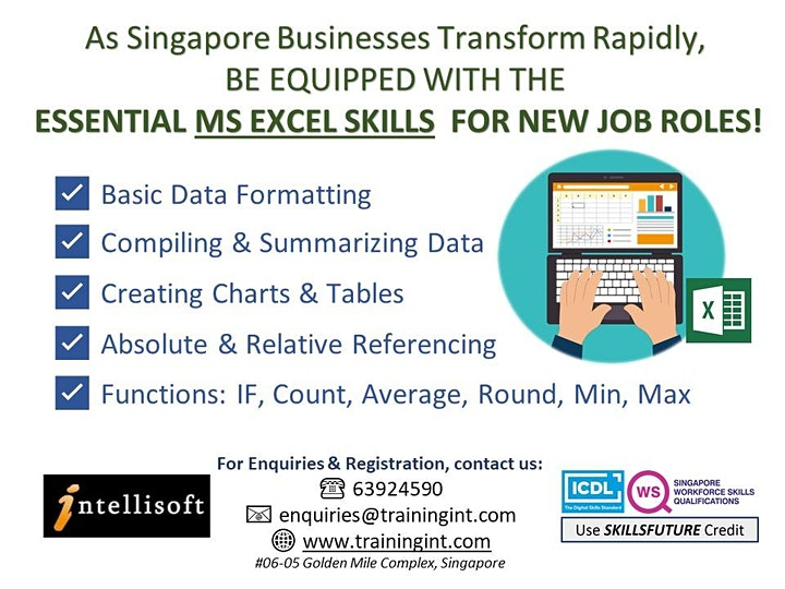 Basic-Intermediate Excel Training by Intellisoft in Singapore image