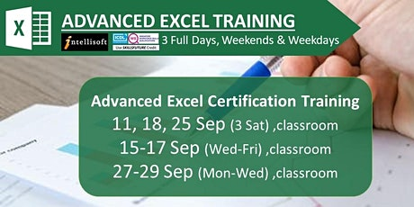 Advanced Excel Training by Intellisoft in Singapore tickets