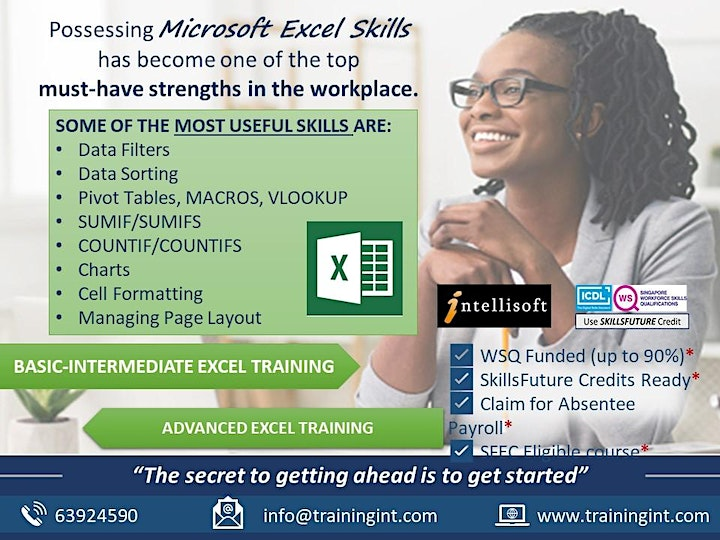 Advanced Excel Training by Intellisoft in Singapore image