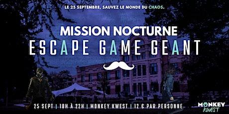 Mission Nocturne : Escape Game Géant billets