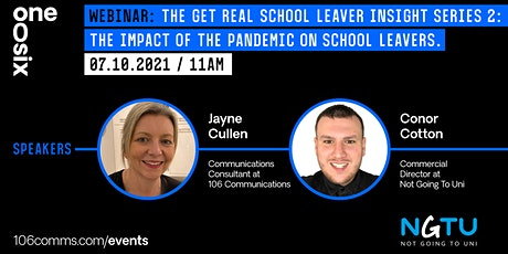 Get Real School Leaver Insight session  2 tickets
