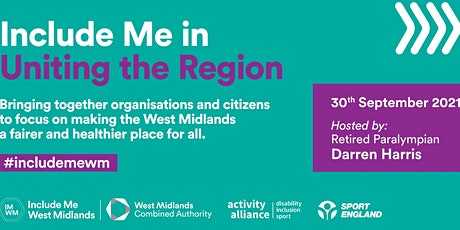 Include Me in Uniting the Region Conference (afternoon session) tickets