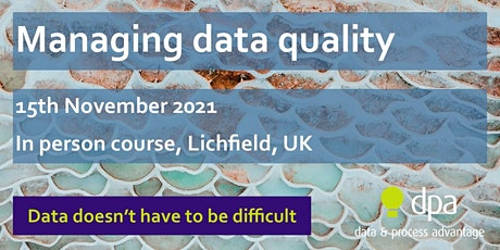 Managing Data Quality (In person) tickets