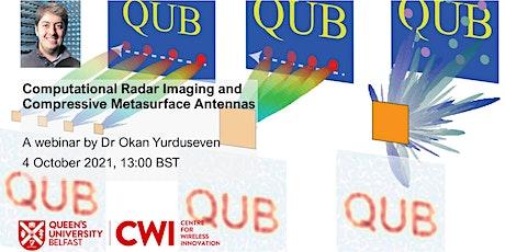 Computational Radar Imaging and Compressive Metasurface Antennas tickets