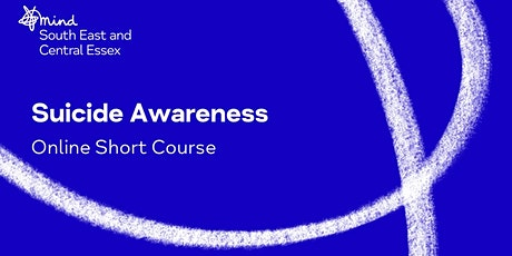 Suicide Awareness Course Online - Afternoon tickets