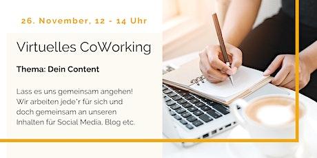 Virtuelles CoWorking - Dein Content entradas