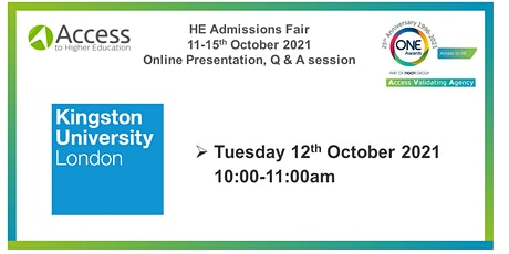 HE Admissions Fair: Presentation and Q&A - Kingston University London tickets