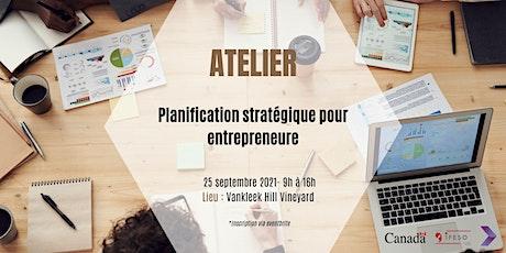 Atelier de planification stratégique pour entrepreneure billets