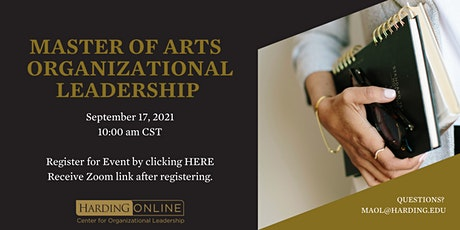 M.A. Organizational Leadership Informational Webinar tickets