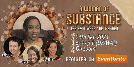 A Woman of Substance is a place to be inspired to do more. tickets